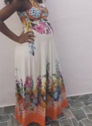 Vestido floral para gestante