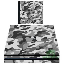 Skin Playstation 4 Pro, Fat ou Slin- Kit Console + 2 Controles