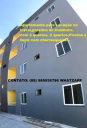 RT-Apartamentos Novos para Locação ,no Icaraí, próximo ao cumbuco