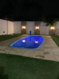 Casa com 3 quartos, piscina, deck e churrasqueira; Porto das dunas