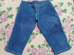 Bermuda/Short Jeans Tie Dye com elastano - Tamanho 40