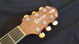 Crafter de7n Tampo sólido Cedro folk elétrico fender Takamine Cort Epiphone