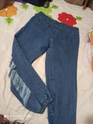 Calça Jogger no jeans
