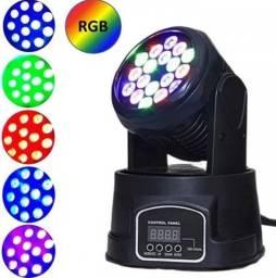Canhão de LED Jogo De Luz Moving Head 18 Leds Laser Rgb Lk294