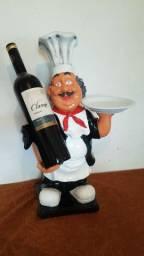 Estatua Cozinheiro Decorativa 50cm