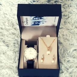 Relógio Champion Feminina Pulseira Couro CN24244Y