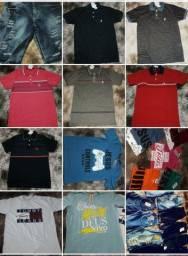 Vários modelos de camisas