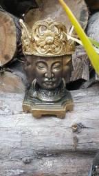 Estátua Brahma Cabeça Dourado e Preto