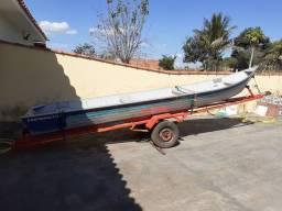 Canoa Fly 600 Pantanaltica 6m + Carreta + Motor Yamaha 8hp