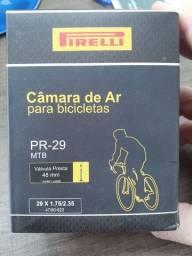 Câmera de ar para bicicleta, Pirelli, valvula presta 48 mm
