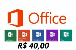Pacote office - word , Excel e PowerPoint e outros se quiser