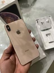 iPhone XS Max 256gb gold 90 Dias garan 12x361,00