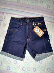 Short jeans cintura alta 36 (com etiqueta)