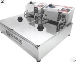 Fritadeira Elétrica Profissional 2 cubas - FM-10L - 127V - Inovamaq