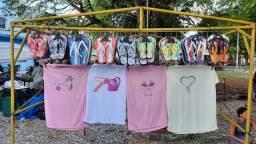 Fornecedor de camisas e sandálias personalizadas