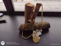 Corrente Tijolo Curto Medalha São Bento