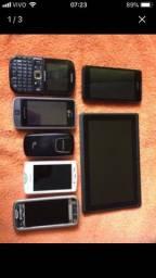 Kit oito aparelhos eletrônicos .