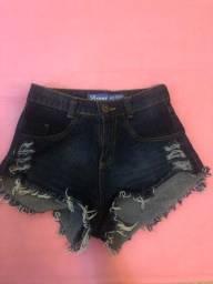 short jeans cintura alta Tam36