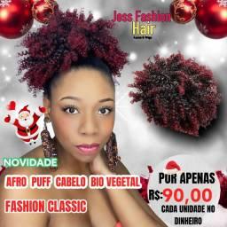 Afro Puff Bio vegetal/Aplique