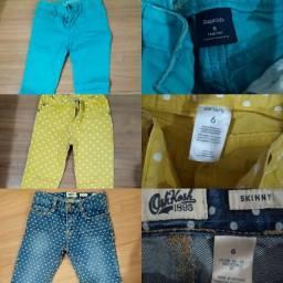 Calças infantis GAP/Carters/Oshkosh tamanho 6