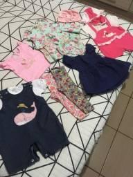 Lote roupa menina bebê