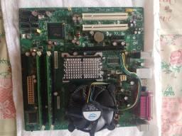 Placa mãe Intel +processador + 4gb memória
