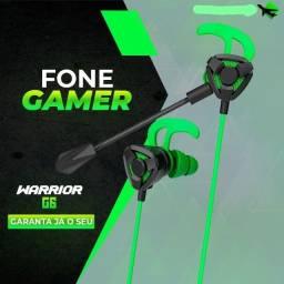 Fone de Ouvido Gamer Warrior G6 Para Celular/PC/PS4/Xbox com Microfone
