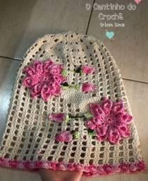 Capa de galão de água em crochê