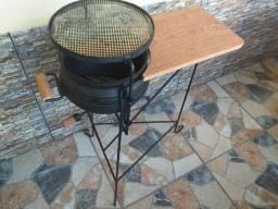 Churrasqueira de panela de ferro
