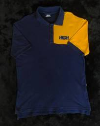 Camisa Polo High Kidz Yellow / Blue
