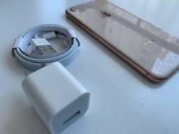 Título do anúncio: iPhone 8 64gb (Gold Rose) Raridade. super conservado. NÃO FAÇO TROCAS