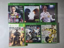 Jogos originais Xbox one e Xbox 360