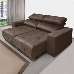 Sofa Retrátil e Reclinável 3 Lugares Novo entrega na hora
