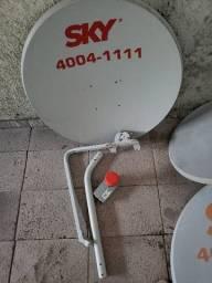Antena de TV a cabo e internete