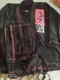 kimono jiujitsu feminino naja new colors- Rosa e preto