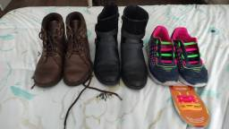 Sapatos Botas feminino infantil klin