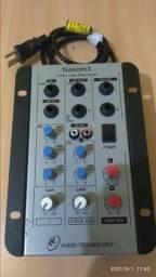 Mesa de Som Nanomix 3 canais