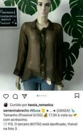 Camisa Marrom Possível G/GG LEIA O ANÚNCIO