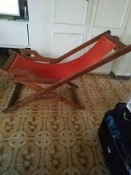 Cadeira de madeira de lei dobrável