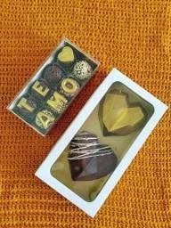 Cesta Dia das Mães / Coração de chocolate / Festa Caixa