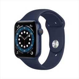 Apple watch series azul 6 44mm brinde pelicula