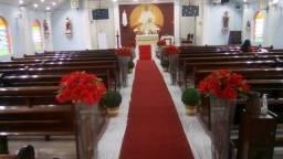 Decoração corredor para cerimônia de casamento