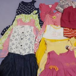 Lote roupas menina tamanhos 1 e 2