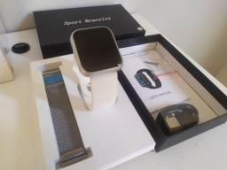 Relógio Smartwatch P80 Prata - Muito Top