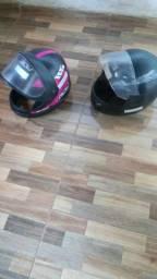 Vendo 2 capacetes (100) e um vestido tamanho (G)(100) usado apenas 1 vez