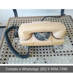 R$100 Em pleno funcionamento Telefone antigo de disco GTE