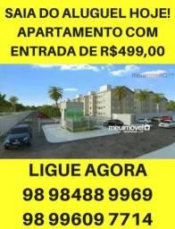 Apartamento com Varanda. Mensais de R$300,00 na região do Cohatrac