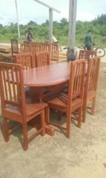 Mesa cadeiras 6 lugares direto de fábrica