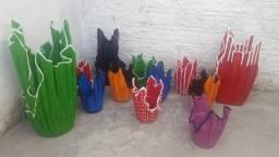 Vendo lindas vazos por encomenda tamanho e cor
