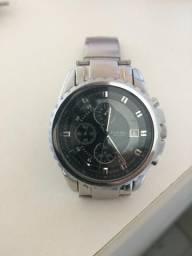 Relógio Fossil Masculino - Esportivo Fino - Chrono Prata
